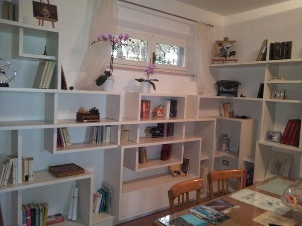 Libreria in legno su misura